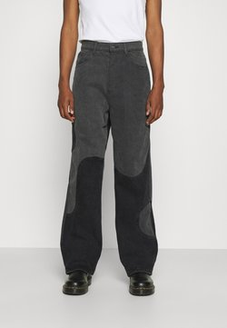 Jaded London - YIN AND YANG CUT AND SEW - Jeans Relaxed Fit - black