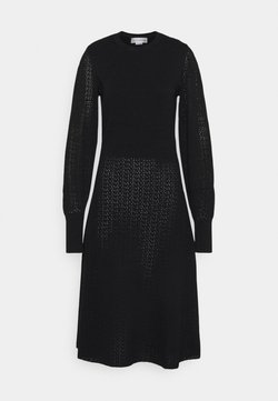 Victoria Beckham - BLOUSON SLEEVE DRESS - Gebreide jurk - black