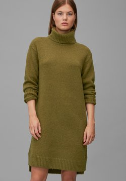Marc O'Polo - Strickkleid - olive green melange