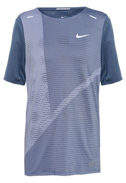 Nike Performance - RISE HYBRID  - T-shirt imprimé - diffused blue/silver