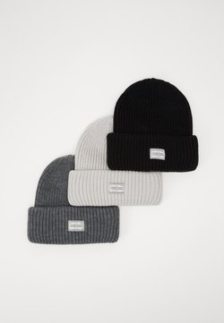 Pier One - 3 PACK - Pipo - offwhite/dark grey/black