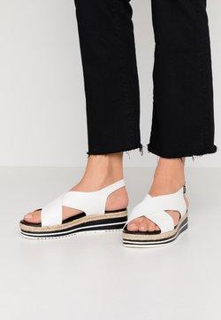 Divine Factory - Korkeakorkoiset sandaalit - blanc