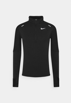 Nike Performance - T-shirt à manches longues - black/reflective silver