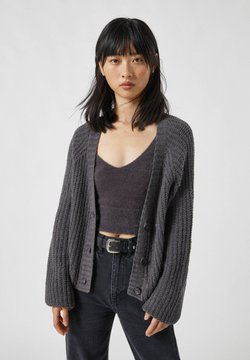 PULL&BEAR - Strickjacke - mottled grey