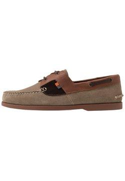 Frank Wright - DRACO - Chaussures bateau - ecru/tan