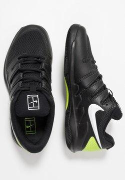 Nike Performance - JR VAPOR X UNISEX - Zapatillas de tenis para todas las superficies - black/white/volt