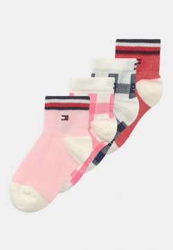 Tommy Hilfiger - PLAID CHECK 4 PACK UNISEX - Calcetines - pink