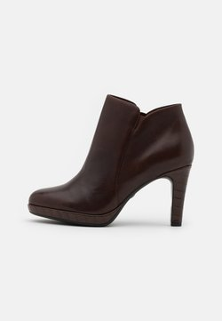 Tamaris - High heeled ankle boots - maroon