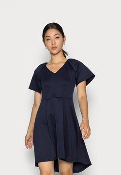 Closet - CLOSET V NECK GATHERED DRESS - Sukienka z dżerseju - navy