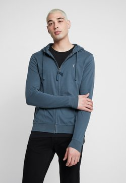 AllSaints - BRACE HOODY - Bluza rozpinana - pier blue