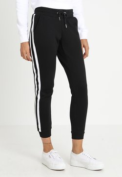 Urban Classics - LADIES COLLEGE CONTRAST - Jogginghose - black/white/black