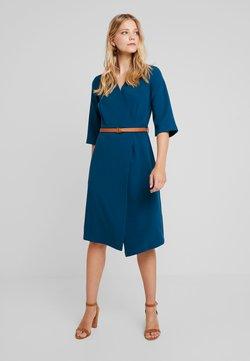 Closet - SLEEVE WRAP DRESS - Day dress - blue