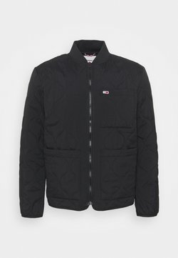 Tommy Jeans - QUILTED LINER JACKET - Giubbotto Bomber - black