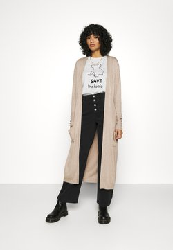 ONLY - ONLCECILIA LONG CARDIGAN - Gilet - sand
