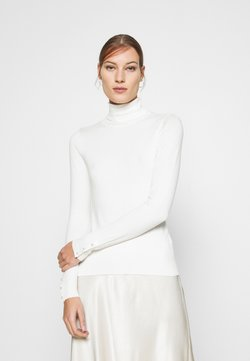 Dorothy Perkins - PEARL BUTTON CUFF ROLL NECK JUMPER - Maglione - ivory