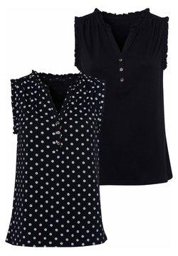 LASCANA - 2 PACK - Bluse - schwarz schwarz gepunktet