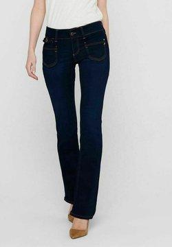 ONLY - Flared Jeans - dark blue denim