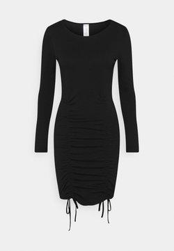 KENDALL + KYLIE - LONGSLEEVE MINI DRESS - Jerseykjoler - black