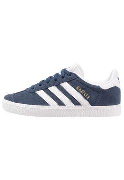 adidas Originals - GAZELLE - Joggesko - collegiate navy/footwear white