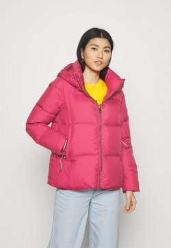 Tommy Hilfiger - PUFFY HOODED - Untuvatakki - royal magenta