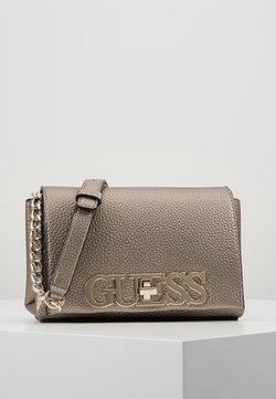Guess - UPTOWN CHIC MINI XBODY FLAP - Sac bandoulière - pewter