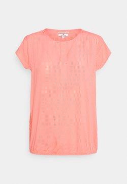 TOM TAILOR - WITH FEMININE NECKLINE - Bluse - peach/white