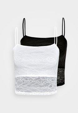 Even&Odd - 2 PACK - Débardeur - white/black