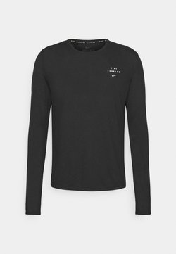 Nike Performance - RUN DIVISION MILER FLASH - Funktionsshirt - black/reflective silver