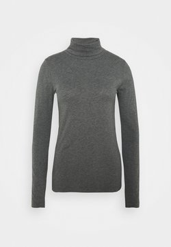 J.CREW - TISSUE TURTLENECK TEE - Langarmshirt - heather slate