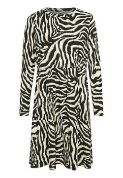 Kaffe - Freizeitkleid - black/beige zebra print