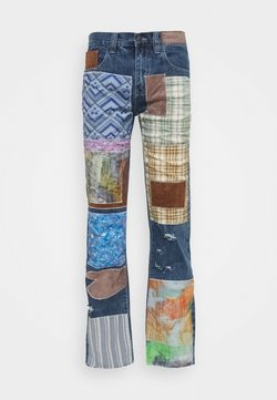 Jaded London - REWORKED PATCHWORK  - Jeans Bootcut - blue