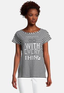 Cartoon - CASUAL MIT STREIFEN - T-Shirt print - weiß/schwarz