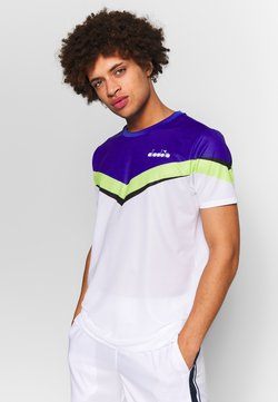 Diadora - CLAY - T-Shirt print - bright white/royal blue