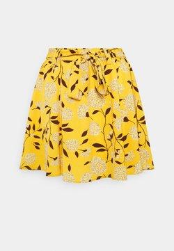 ONLY - ONLNOVA JASMIN SKIRT - Minigonna - golden yellow/white