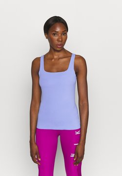 Nike Performance - THE YOGA LUXE TANK - Top - royal pulse/aluminum