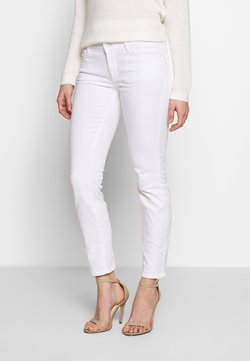Marc O'Polo - TROUSER CROPPED LENGTH - Jeans slim fit - white denim wash