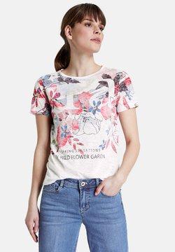 Taifun - T-Shirt print - offwhite gemustert