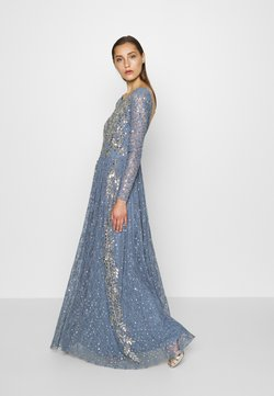 Maya Deluxe - MAXI DRESS WITH SCOOP BACK AND EMBELLISHMENT - Vestido de fiesta - dusty blue