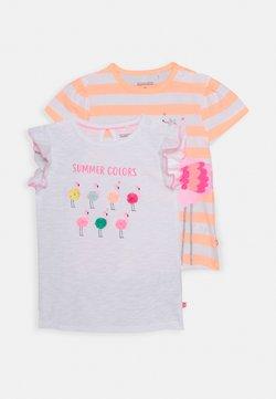 Staccato - BABY 2 Pack - T-shirt print - orange/white
