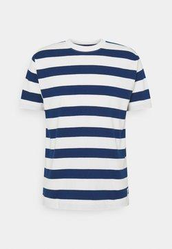 Marc O'Polo DENIM - SHORT SLEEVE BLOCK STRIPE - T-Shirt print - multi/estate blue