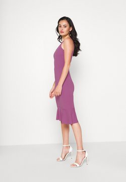 WAL G. - FRILL HEM MIDI DRESS - Cocktailjurk - mauve pink