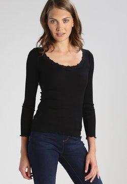 Rosemunde - REGULAR VINTAGE - Langærmede T-shirts - black
