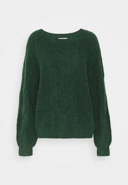Esprit - BIG CABLE - Maglione - dark green