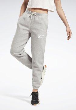 Reebok - REEBOK IDENTITY LOGO FLEECE PANTS - Jogginghose - medium grey heather