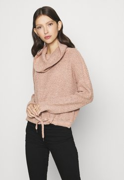 ONLY - ONLNIA ROLLNECK  - Strickpullover - adobe rose/melange