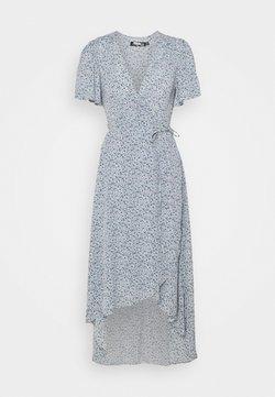 Missguided Petite - HIGH LOW DRESS FLORAL - Hverdagskjoler - blue