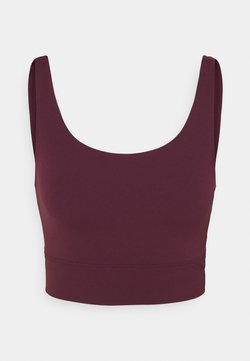 Nike Performance - YOGA LUXE CROP TANK - Tekninen urheilupaita - night maroon/team red