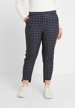 Simply Be - NEW WAISTBAND EXTERAL WINDOW PANE TAPERED TROUSERS - Pantalon classique - navy