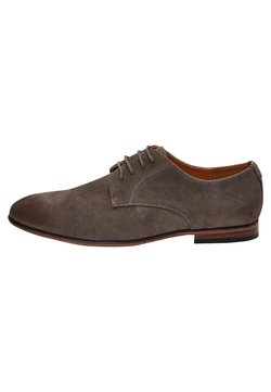 Next - NAVY MICROSUEDE DERBY SHOES - Business-Schnürer - grey