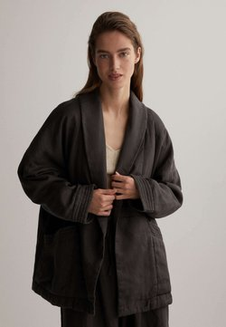 OYSHO - KIMONO - Strickjacke - dark grey